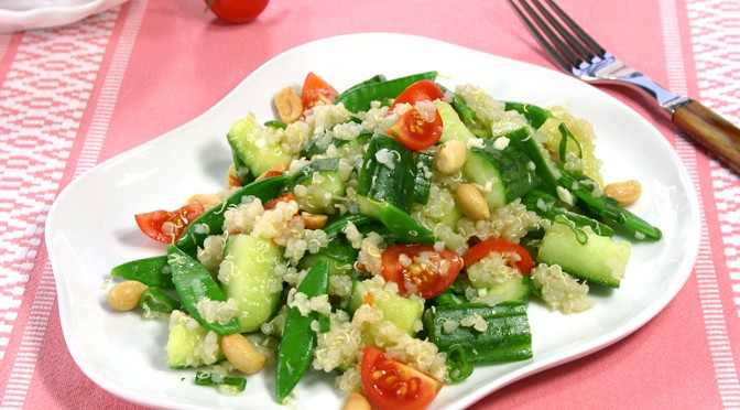 Agurkesalat med quinoa